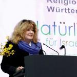 Barbara Traub, M.A., beim Natürlich für Israel Kongress, Stuttgart 2015
