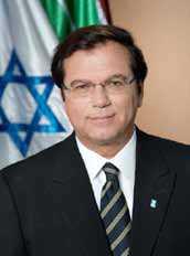 Der Weltpräsident JNF-KKL hält ein Grusswort: Efi Stenzler