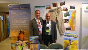 Seebauer und Chorev beim Natürlich für Israel Kongress, Stuttgart 2015