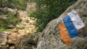 Wegmarkierung am Israel National Trail